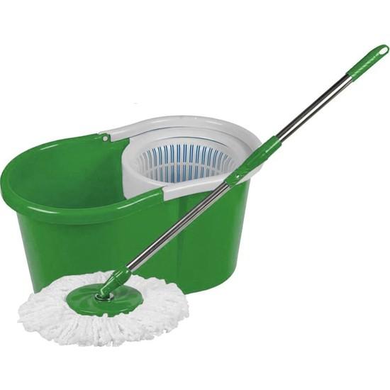 Primax Döner Sistemli Yıkama ve Kurutma Hazneli Mop Temizlik Seti Yeşil