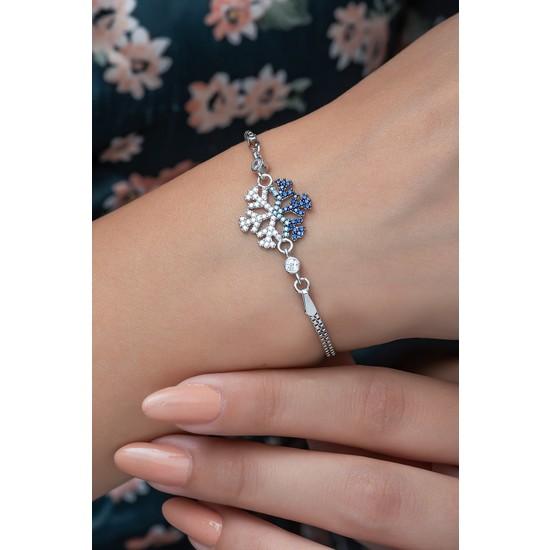 Nereze 925 Ayar Renk Geçişli Kartanesi Kadın Gümüş Bileklik