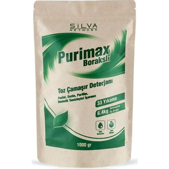 Silva Purimax Toz Çamaşır Deterjanı 2020