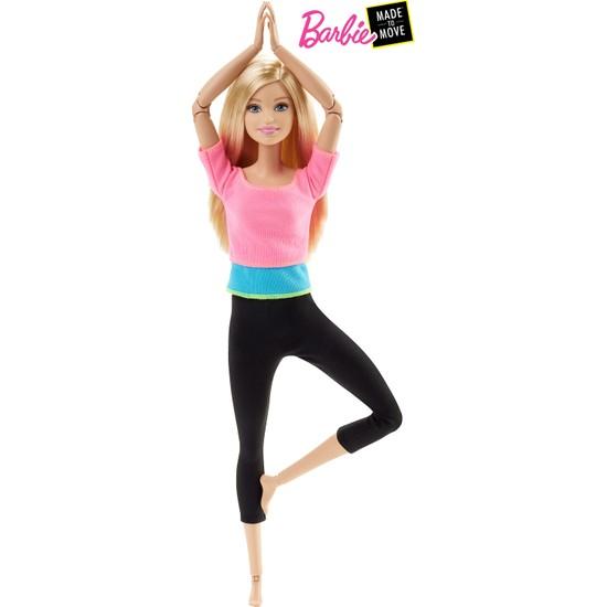 Barbie Sonsuz Hareket Bebeği - Sarışın Siyah Taytlı DHL82