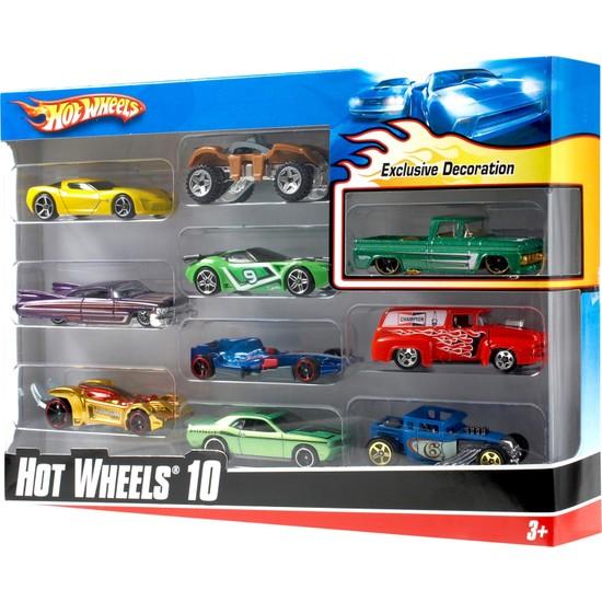 Hot Wheels Onlu Araba Seti - 1:64 Ölçek 54886