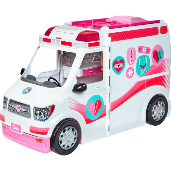 Barbie'nin Ambulansı, 60 cm, Işıklı ve Sesli FRM19