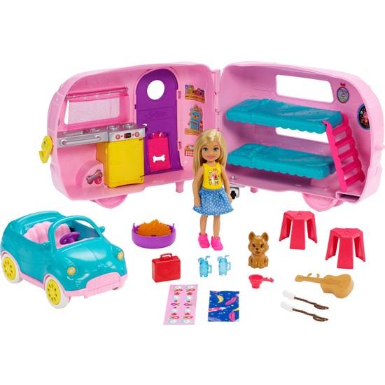 Barbie Club Chelsea Karavanı Oyun Seti, Chelsea'nin Yavru Köpeği ve Aksesuarlar FXG90