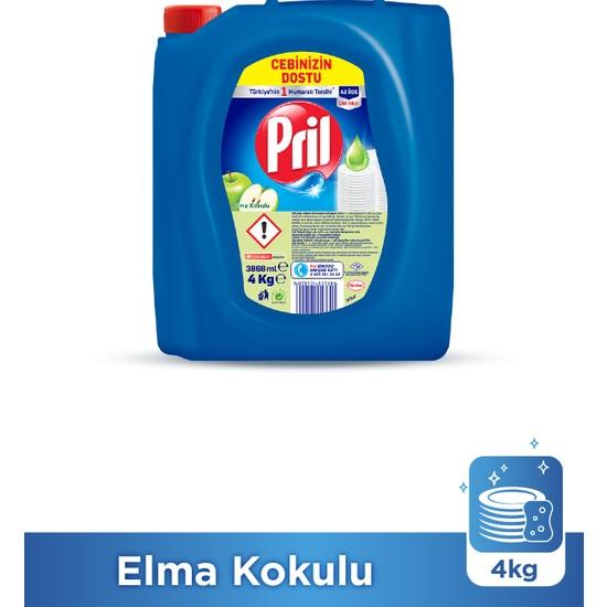 Pril Sıvı Elde Bulaşık Yıkama Deterjanı Elma 4 kg
