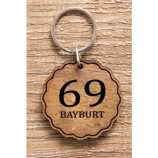 Hediye Dükkanı 69 Bayburt Ahşap Anahtarlık