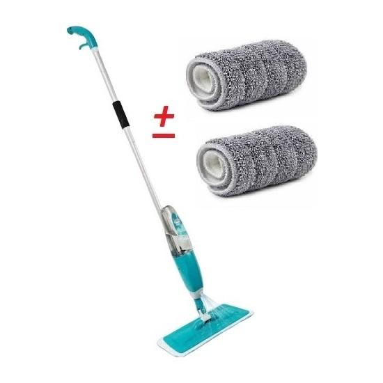 Scratch Anet Sprey Mop Deterjan Hazneli Mikrofiber Paspas Yer Fayans Duvar Banyo Mutfak Temizleyici Sprey Tablet Mop +2 Yedek Bez