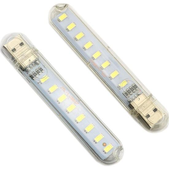 Joytech Taşınabilir Mini USB LED Lamba 8 LED Smd 5730 Kamp Stick Ledi