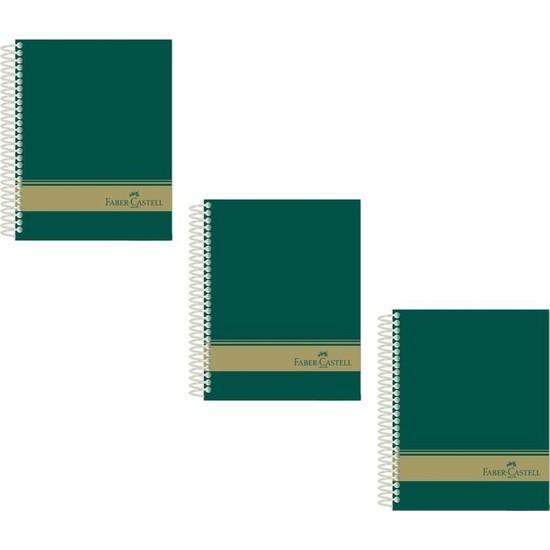 Faber-Castell Sert Kapak Sep.3+1 Yeşil Defter 160 Yaprak A4 3'lü