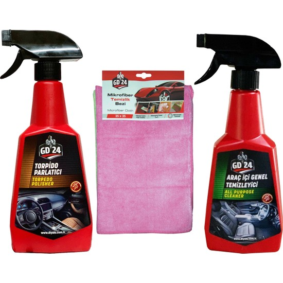 GD24 Araç İçi Temizleme + GD24 Torpido Temizleme Spreyi