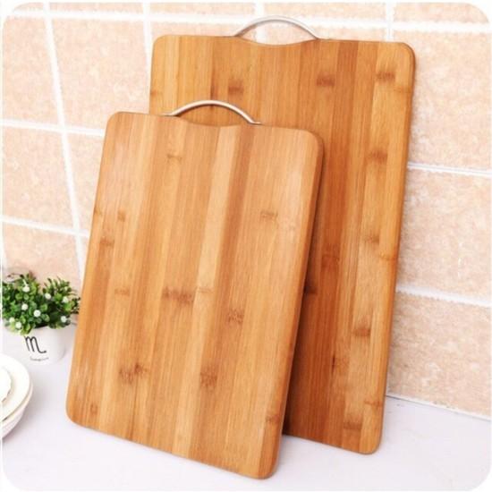 Bambu Aşçıbaşı Kesme Tahtası Doğal Bambu Mutfak Sofra 2 Adet