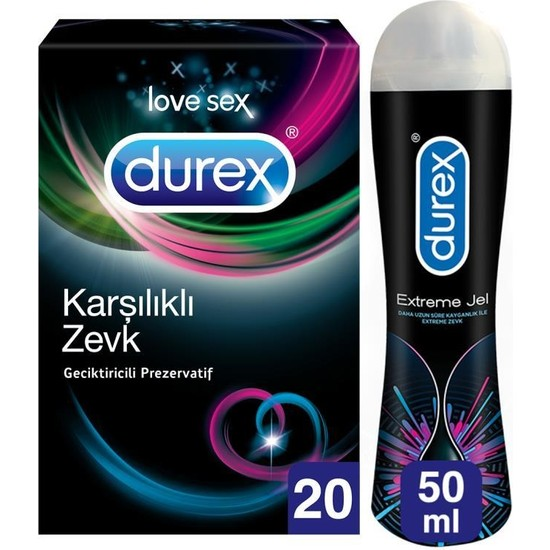 Durex Karşılıklı Zevk Prezervatif 20'li + Durex Extreme Jel 50 ml