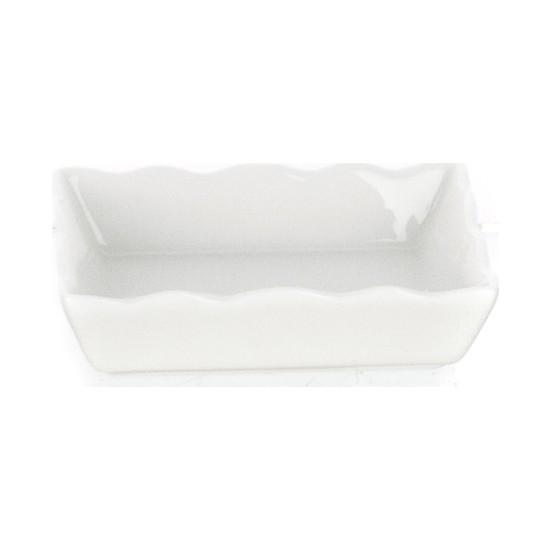 Ultraform Porselen Dalgalı Dikdörtgen Kase 12.5x9 cm
