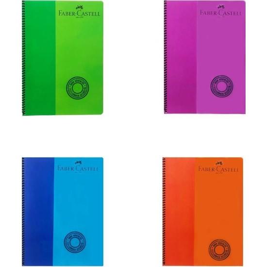 Faber-Castell Bicolor Spiralli Defter 80 Yaprak 2 Kareli + 2 Çizgili