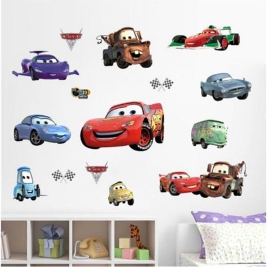 Kt Decoration Çocuk ve Bebek Odasi Cars Arabalar Şimşek Mcqueen ve Arkadaşları Sticker