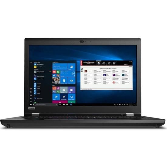 "Lenovo ThinkPad P73 Intel Xeon E-2276M 128GB 1TB SSD + 1TB SSD RTX 5000 Windows 10 Pro 17.3"" UHD Taşınabilir Bilgisayar 20QR002XTX06"