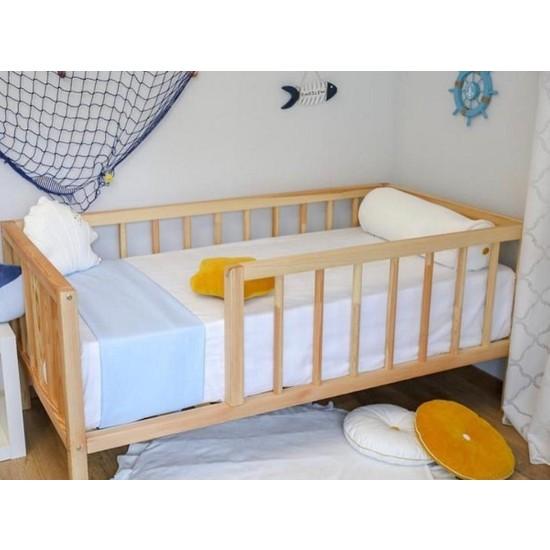 Baby Kinder Çatısız Doğal (Organik-Çam) Bebek ve Çocuk Karyolası