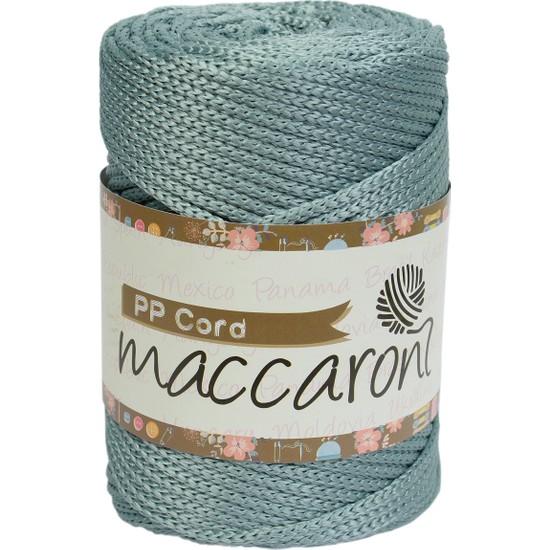 Maccaroni Pp ( Polyester) Halat Makrome İpi - 500 gr - 5 mm - Krem