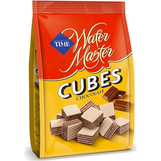 Çizmeci Time Wafer Master Cubes Çikolatalı 200 gr 18 'li Paket