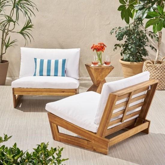 Zerka Concept Conforlove Bahçe Balkon Yeni Tasarım Ahşap Koltuk