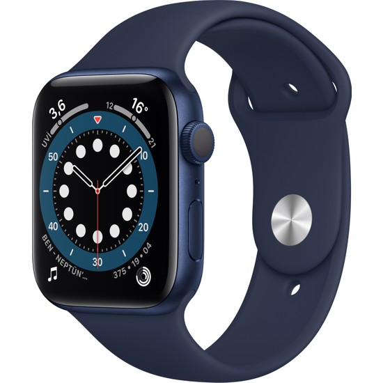 Apple Watch Seri 6 44mm GPS Blue Alüminyum Kasa ve Koyu Lacivert Kordon M00J3TU/A