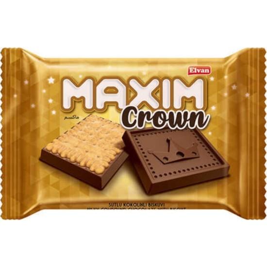 Elvan Maxim Crown Kokolinli Bisküvi 10 gr 24'lü (1 Kutu)