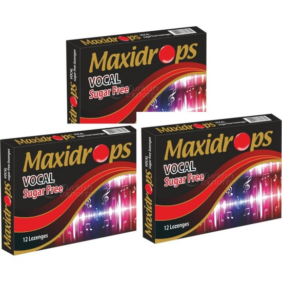 Maxidrops Vocal Şekersiz Pastil - 3'lü