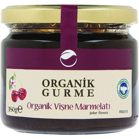 Organik Gurme Vişne Marmelatı 350 gr