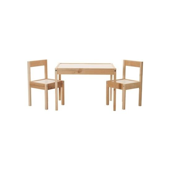 Demirel Plastik Ahşap Çocuk Aktivite Oyun Masa Sandalye Takımı