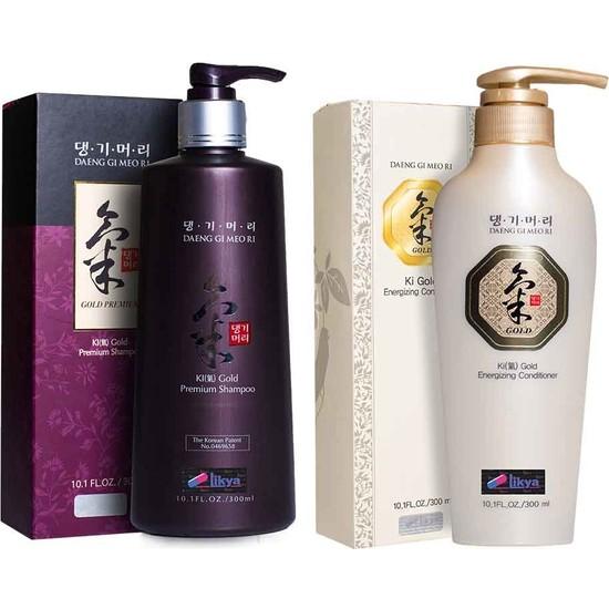 Ki Gold Premium Şampuan 300 ml + Saç Kremi 300 ml