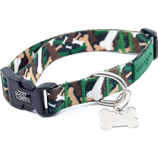 Weepetz Green Camo Collar Köpek Boyun Tasması Xsmall