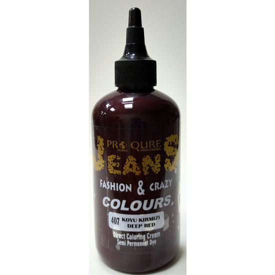 Proqure Jean Color Boya Koyu Kırmızı 250 ml