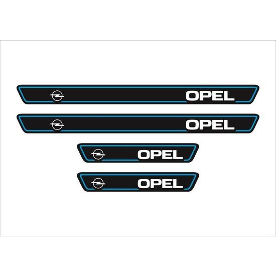 Ömr Dizayn Hediye Opel Logolu 4'lü Kapı Eşiği Oto Aksesuar Mavi