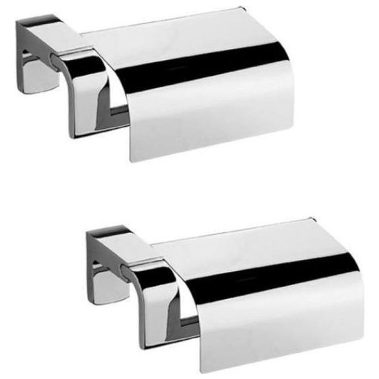 Tema Banyo Premium Kapaklı Tuvalet Kağıtlık 71009 2'li Paket