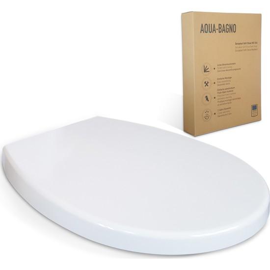 Aqua Bagno Smıle Yavaş Kapanan Klozet Kapağı - Duroplast