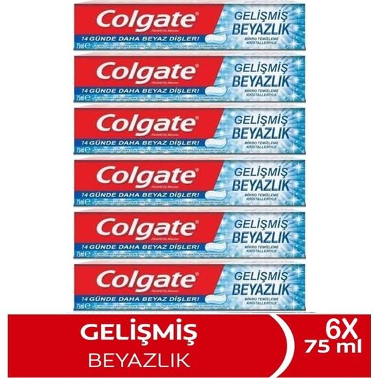 Colgate Diş Macunu Gelişmiş Beyazlık 75 ml x 6 Adet