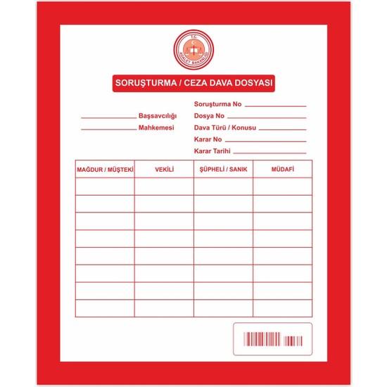 Kaya Soruşturma Ceza Dava İcra Avukat Dosyası Kırmızı 1. Kalite 100'lü