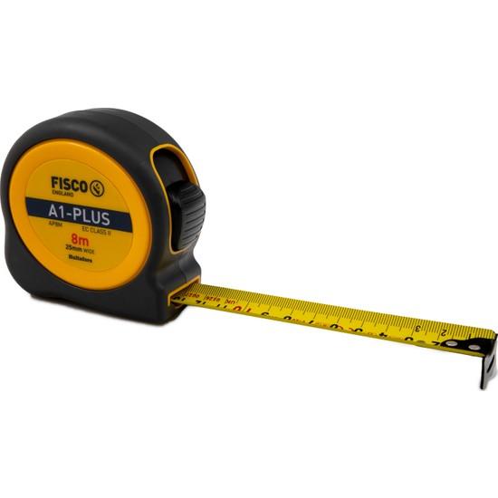 Fisco A1 Plus | 8 Metre / 25 mm Çelik Şerit Metre | A1 8M