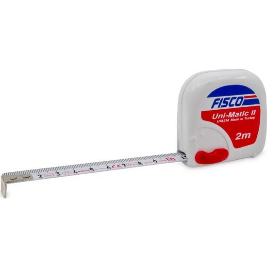 Fisco Uni-Matic II   2 Metre Çelik Kısa Şerit Metre   UM 2M