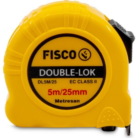 Fisco Double-Lok | 5 Metre / 25 mm Çelik Şerit Metre | DL5M/25MM