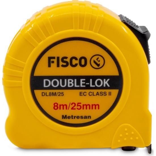 Fisco Double-Lok | 8 Metre / 25 mm Çelik Şerit Metre | DL8M/25MM