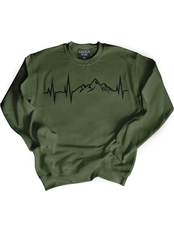 Genıus Store Erkek Sweatshirt 3 İplik Kumaş Kış Sezonu