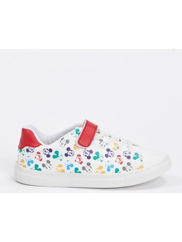 DeFacto Kız Çocuk Mickey Mouse Lisanslı Cırtcırtlı Ayakkabı N4331A620AU