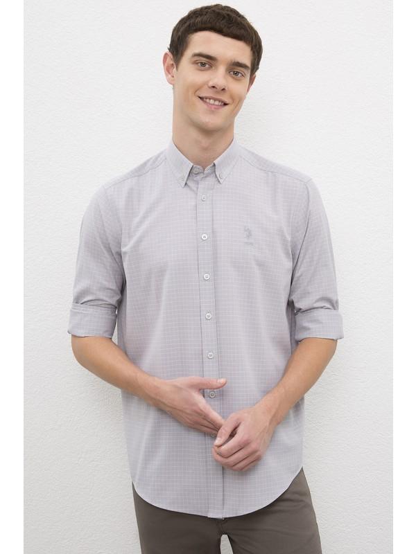 U.S. Polo Assn. Erkek Gri Gömlek Uzunkol 50231352-VR024