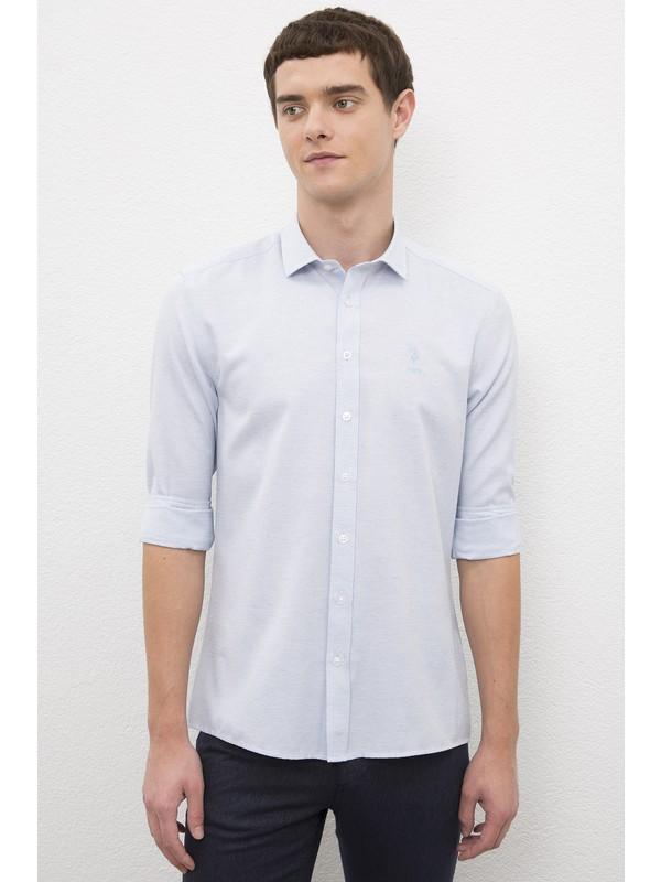 U.S. Polo Assn. Erkek Lacivert Gömlek Uzunkol 50231306-VR033