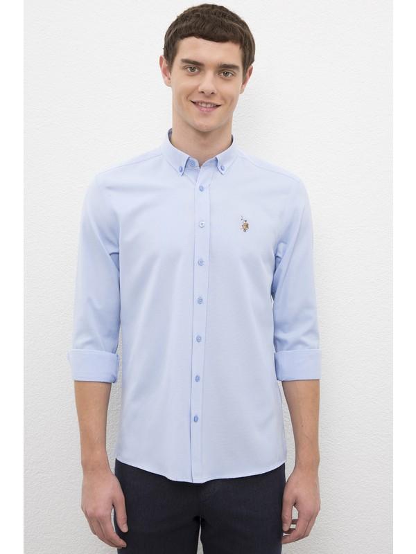 U.S. Polo Assn. Erkek Mavi Gömlek Uzunkol 50231309-VR036