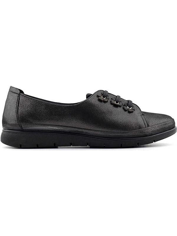 Evida 2597 Deri Kadın Ayakkabı-Bronz
