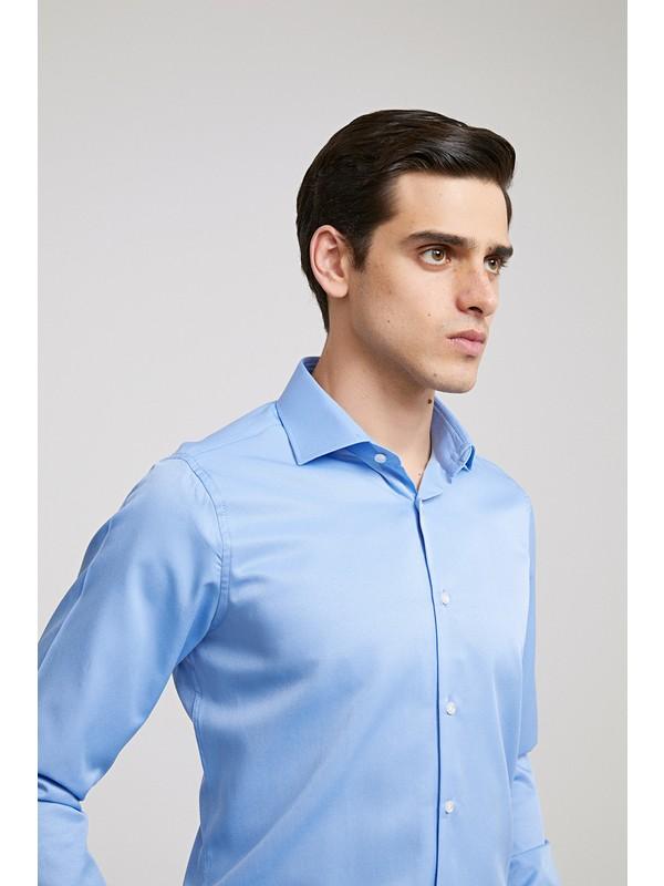 Ds Damat Slim Fit Mavi Gömlek
