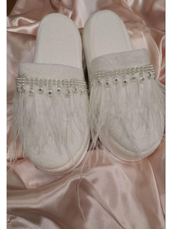 Asimod Bride Tüylü Terlik
