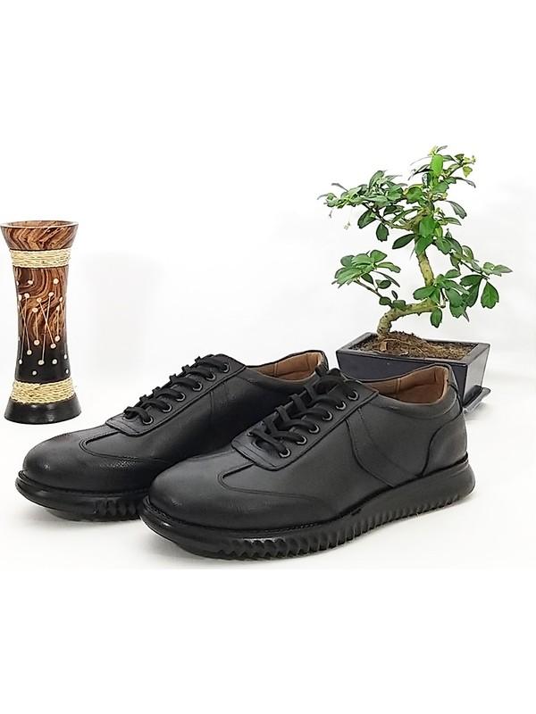 Hakiki Deri Yandan Şeritli Günlük Erkek Ayakkabı