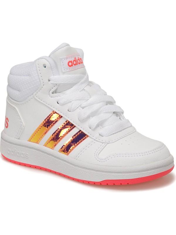 Adidas Hoops Mıd 2.0 K Beyaz Kız Çocuk Sneaker Ayakkabı